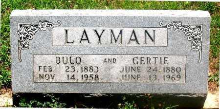 LAYMAN, GERTIE - Carroll County, Arkansas | GERTIE LAYMAN - Arkansas Gravestone Photos