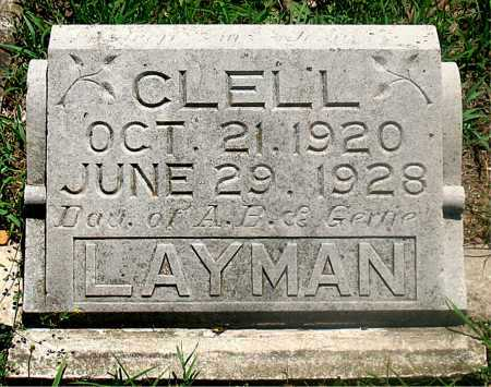 LAYMAN, CLELL - Carroll County, Arkansas | CLELL LAYMAN - Arkansas Gravestone Photos
