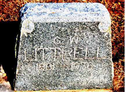 LITTRELL, G  W - Carroll County, Arkansas | G  W LITTRELL - Arkansas Gravestone Photos
