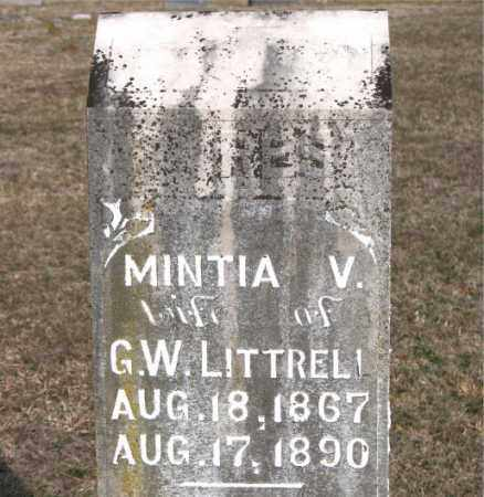 LITTRELL, MINTIA V - Carroll County, Arkansas | MINTIA V LITTRELL - Arkansas Gravestone Photos