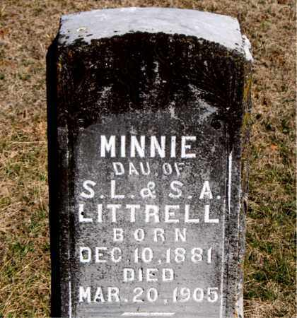 LITTRELL, MINNIE - Carroll County, Arkansas | MINNIE LITTRELL - Arkansas Gravestone Photos