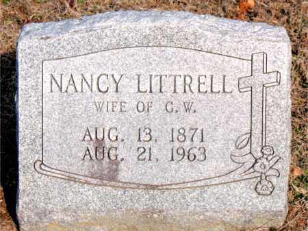 LITTRELL, NANCY - Carroll County, Arkansas | NANCY LITTRELL - Arkansas Gravestone Photos