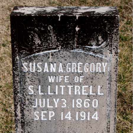GREGORY LITTRELL, SUSAN A - Carroll County, Arkansas | SUSAN A GREGORY LITTRELL - Arkansas Gravestone Photos