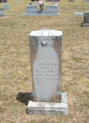 LONG, HULDAH - Carroll County, Arkansas | HULDAH LONG - Arkansas Gravestone Photos