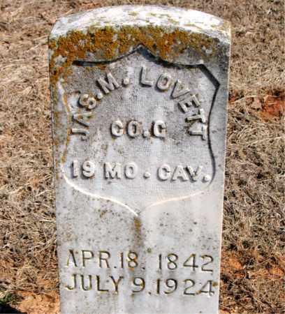 LOVETT (VETERAN UNION), JAMES M - Carroll County, Arkansas | JAMES M LOVETT (VETERAN UNION) - Arkansas Gravestone Photos