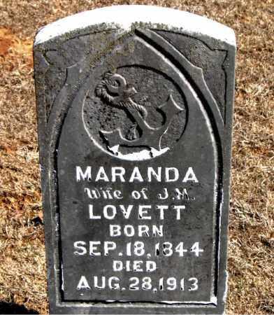 LOVETT, MARANDA - Carroll County, Arkansas | MARANDA LOVETT - Arkansas Gravestone Photos