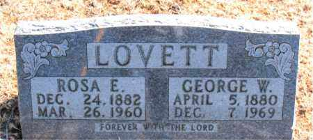 LOVETT, GEORGE W. - Carroll County, Arkansas | GEORGE W. LOVETT - Arkansas Gravestone Photos