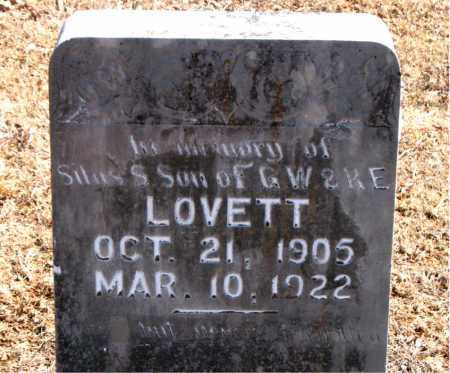LOVETT, SILAS S. - Carroll County, Arkansas | SILAS S. LOVETT - Arkansas Gravestone Photos