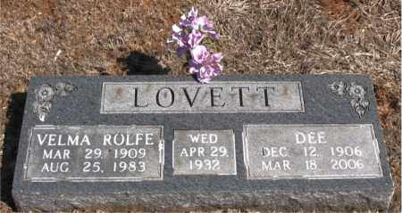 LOVETT, VELMA ROLFE - Carroll County, Arkansas | VELMA ROLFE LOVETT - Arkansas Gravestone Photos