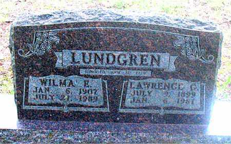 LUNDGREN, WILMA E. - Carroll County, Arkansas | WILMA E. LUNDGREN - Arkansas Gravestone Photos