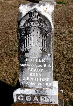 COADY, LUTHER - Carroll County, Arkansas | LUTHER COADY - Arkansas Gravestone Photos