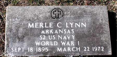 LYNN  (VETERAN WWI), MERLE C - Carroll County, Arkansas | MERLE C LYNN  (VETERAN WWI) - Arkansas Gravestone Photos