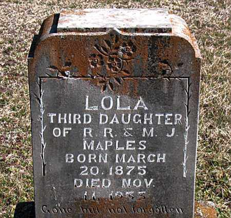 MAPLES, LOLA - Carroll County, Arkansas | LOLA MAPLES - Arkansas Gravestone Photos