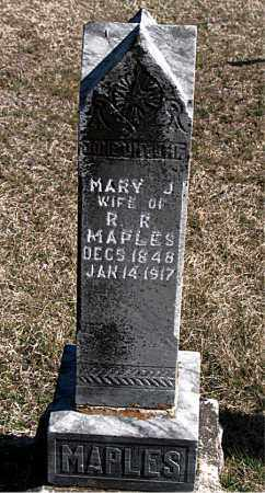 MAPLES, MARY J - Carroll County, Arkansas | MARY J MAPLES - Arkansas Gravestone Photos