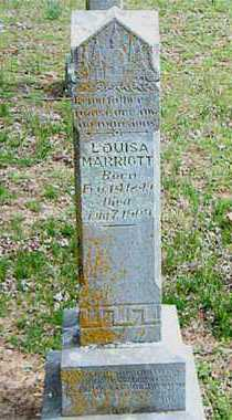 MARRIOTT, LOUISA - Carroll County, Arkansas | LOUISA MARRIOTT - Arkansas Gravestone Photos