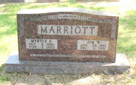 MARRIOTT, JIM  W - Carroll County, Arkansas | JIM  W MARRIOTT - Arkansas Gravestone Photos