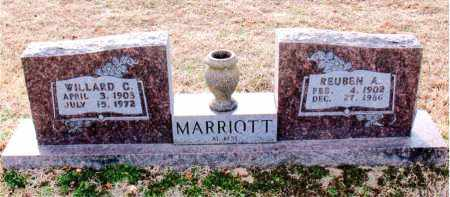 MARRIOTT, REUBEN A - Carroll County, Arkansas | REUBEN A MARRIOTT - Arkansas Gravestone Photos