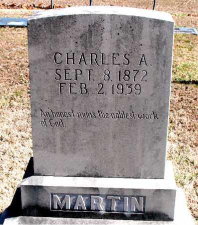 MARTIN, CHARLES A - Carroll County, Arkansas | CHARLES A MARTIN - Arkansas Gravestone Photos