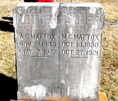 MATTOX, A C - Carroll County, Arkansas | A C MATTOX - Arkansas Gravestone Photos