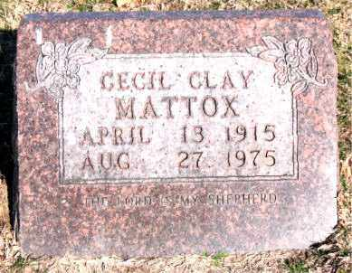 MATTOX, CECIL CLAY - Carroll County, Arkansas | CECIL CLAY MATTOX - Arkansas Gravestone Photos