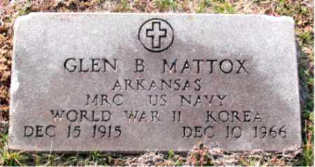 MATTOX  (VETERAN 2 WARS), GLEN B - Carroll County, Arkansas | GLEN B MATTOX  (VETERAN 2 WARS) - Arkansas Gravestone Photos