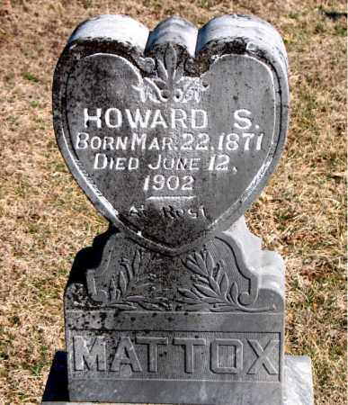 MATTOX, HOWARD S - Carroll County, Arkansas | HOWARD S MATTOX - Arkansas Gravestone Photos