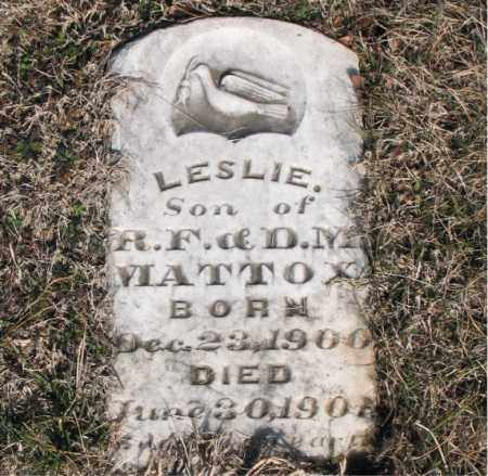 MATTOX, LESLIE - Carroll County, Arkansas | LESLIE MATTOX - Arkansas Gravestone Photos