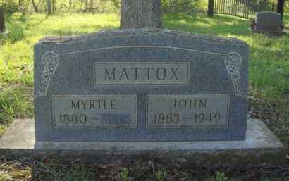 MATTOX, JOHN - Carroll County, Arkansas | JOHN MATTOX - Arkansas Gravestone Photos
