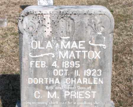 PRIEST, OLA MAE - Carroll County, Arkansas | OLA MAE PRIEST - Arkansas Gravestone Photos