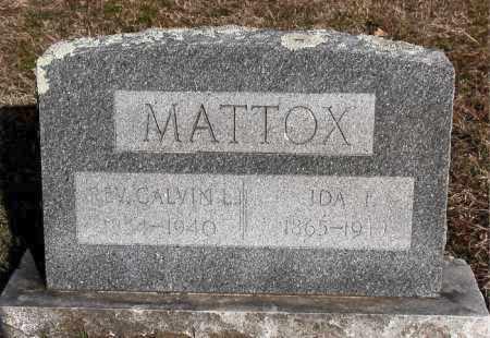 MATTOX, IDA F - Carroll County, Arkansas | IDA F MATTOX - Arkansas Gravestone Photos