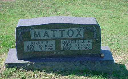 MATTOX, RILEY F - Carroll County, Arkansas | RILEY F MATTOX - Arkansas Gravestone Photos