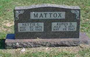 MATTOX, NETTIE G - Carroll County, Arkansas | NETTIE G MATTOX - Arkansas Gravestone Photos