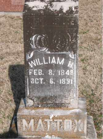 MATTOX, WILLIAM H - Carroll County, Arkansas | WILLIAM H MATTOX - Arkansas Gravestone Photos