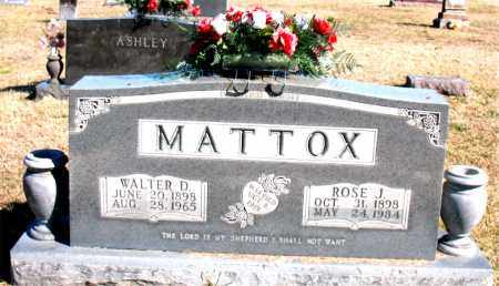 MATTOX, WALTER D - Carroll County, Arkansas | WALTER D MATTOX - Arkansas Gravestone Photos