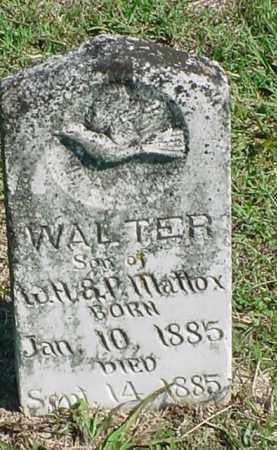 MATTOX, WALTER - Carroll County, Arkansas | WALTER MATTOX - Arkansas Gravestone Photos