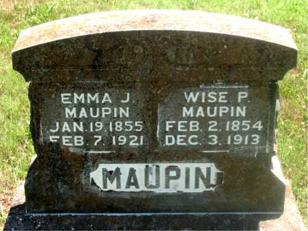 MAUPIN, EMMA J - Carroll County, Arkansas | EMMA J MAUPIN - Arkansas Gravestone Photos