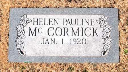 MCCORMICK, HELEN PAULINE - Carroll County, Arkansas | HELEN PAULINE MCCORMICK - Arkansas Gravestone Photos