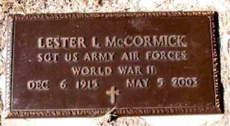 MCCORMICK  (VETERAN WWII), LESTER L. - Carroll County, Arkansas | LESTER L. MCCORMICK  (VETERAN WWII) - Arkansas Gravestone Photos