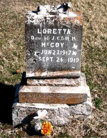 MCCOY, LORETTA - Carroll County, Arkansas | LORETTA MCCOY - Arkansas Gravestone Photos