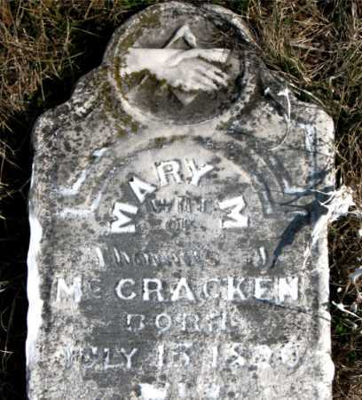 MCCRACKEN, MARY M. - Carroll County, Arkansas | MARY M. MCCRACKEN - Arkansas Gravestone Photos