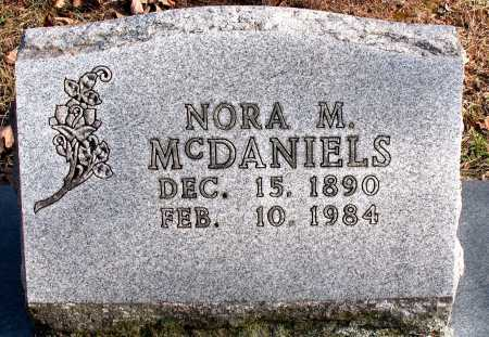 MCDANIELS, NORA M. - Carroll County, Arkansas | NORA M. MCDANIELS - Arkansas Gravestone Photos