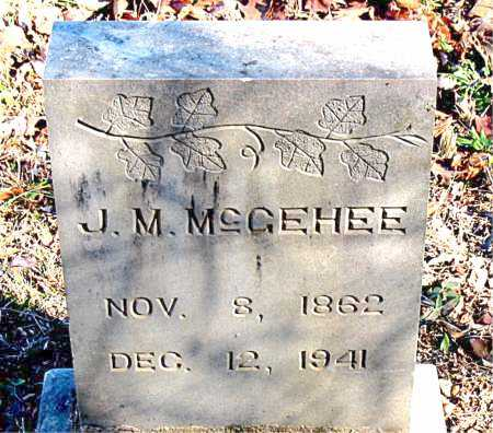 MCGEHEE, J. M. - Carroll County, Arkansas | J. M. MCGEHEE - Arkansas Gravestone Photos
