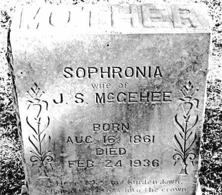 MCGEHEE, SOPHRONIA - Carroll County, Arkansas | SOPHRONIA MCGEHEE - Arkansas Gravestone Photos