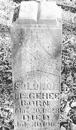 MCGEHEE, SOLOMON - Carroll County, Arkansas | SOLOMON MCGEHEE - Arkansas Gravestone Photos