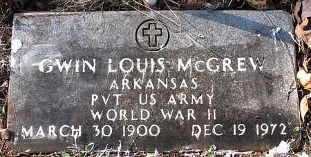 MCGREW (VETERAN WWII), GWIN LOUIS - Carroll County, Arkansas | GWIN LOUIS MCGREW (VETERAN WWII) - Arkansas Gravestone Photos