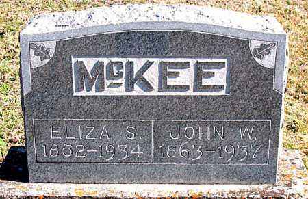 MCKEE, ELIZA S - Carroll County, Arkansas | ELIZA S MCKEE - Arkansas Gravestone Photos