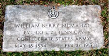 MCMAHAN  (VETERAN CSA), WILLIAM BERRY - Carroll County, Arkansas | WILLIAM BERRY MCMAHAN  (VETERAN CSA) - Arkansas Gravestone Photos