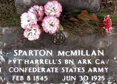 MCMILLAN (VETERAN CSA), SPARTON - Carroll County, Arkansas | SPARTON MCMILLAN (VETERAN CSA) - Arkansas Gravestone Photos