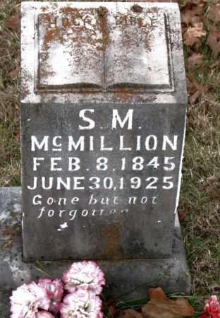 MCMILLION, S.  M. - Carroll County, Arkansas | S.  M. MCMILLION - Arkansas Gravestone Photos