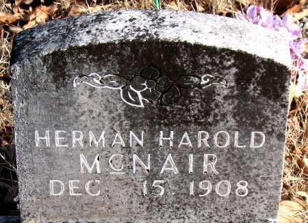 MCNAIR, HERMAN HAROLD - Carroll County, Arkansas | HERMAN HAROLD MCNAIR - Arkansas Gravestone Photos